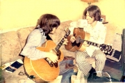 BACKSTAGE TUNING UP WITH GLEN FREY 1968