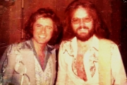 insert pic 29 johnny and i backstage at the Hilton Hotel in Las Vegas 1973